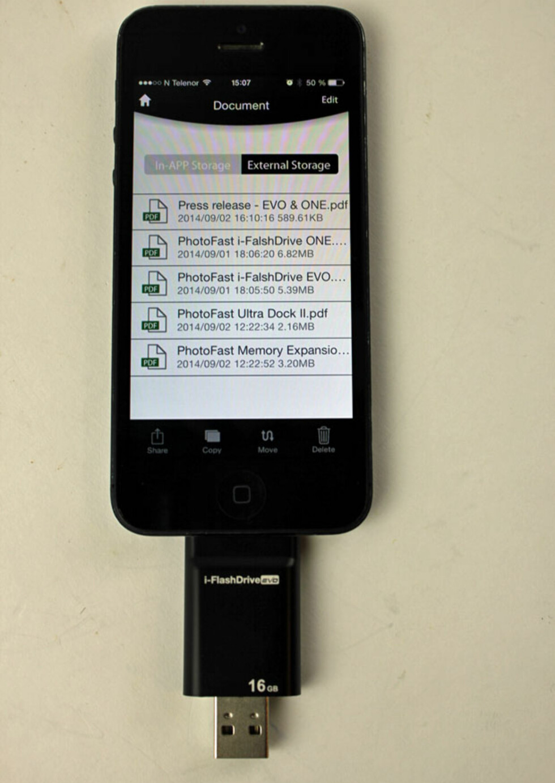 i-FlashDrive: Appens listing av dokumenter du har på minnekortet. Foto: ØYVIND PAULSEN