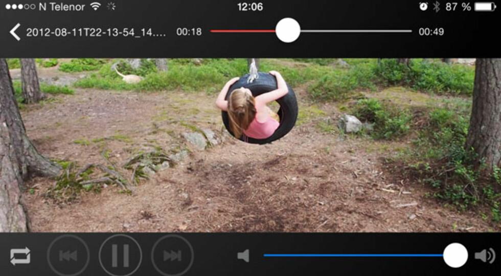 i-FlashDrive: Video-visning på iPhone. Foto: ØYVIND PAULSEN