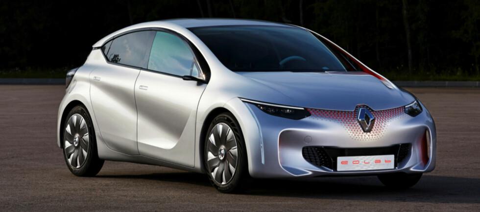 SPARETILTAK: Renault sater hardt på å redusere både drivstoff og utslipp. Reaultatet i Eolab er 1 desiliter per mil.   Foto: Renault