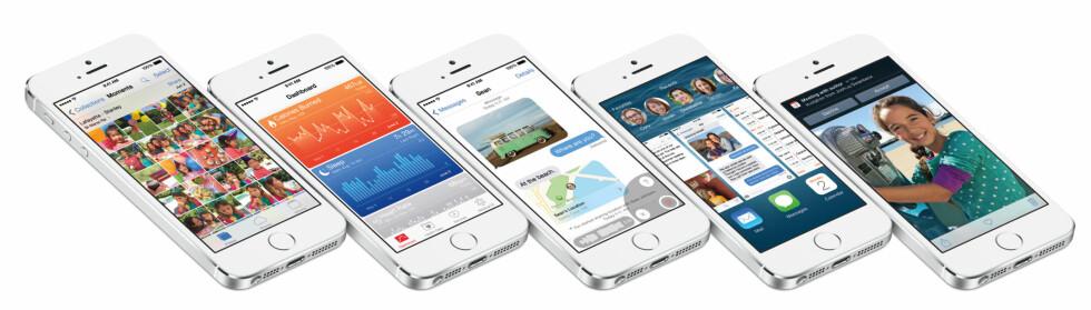 """""""DEN STØRSTE TIL NÅ"""": Apple skryter selv at at iOS 8 er den største oppdateringen siden App Store kom i 2008.  Foto: APPLE"""