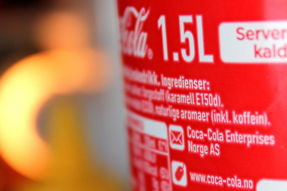 HEMMELIG: Hva «naturlige aromaer» betyr i Coca-Colas ingrediensliste skal være en forretningshemmelighet. Men ingen trenger uansett å oppgi aromaene sine, bortsett fra blant annet koffein. Foto: OLE PETTER BAUGERØD STOKKE