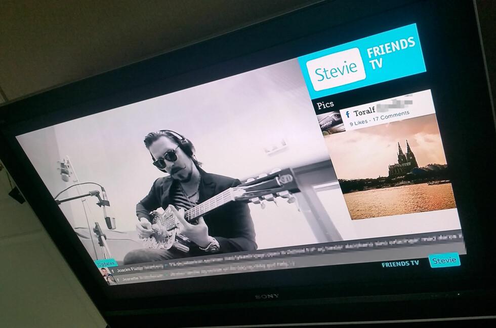 FACEBOOK PÅ TV: Nå kan du lage en «tv-kanal» av Facebook og Twitter. Foto: PÅL JOAKIM OLSEN