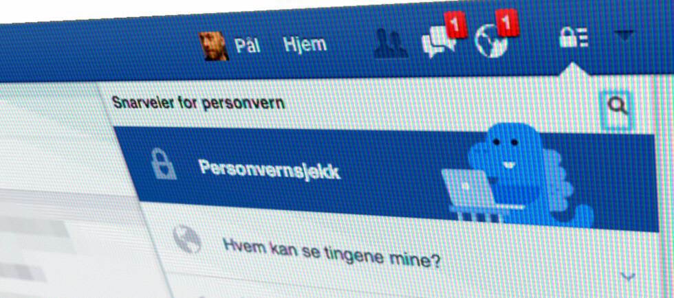 NYTT VERKTØY: Nå gjør Facebook det lettere å styre hvem som får se hva. Foto: PÅL JOAKIM OLSEN