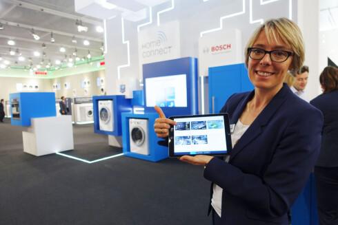 HOMECONNECT: Bosch & Siemens app som lar deg styre hvitevarene lanseres nå i Tyskland, mens vi må vente til 2016 før det er tilgjengelig her. Foto: ELISABETH DALSEG