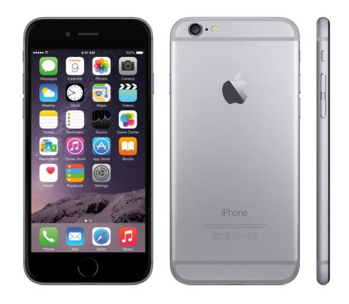 NY LOOK: iPhone 6 har ikke lenger de rette kantene vi kjenner fra iPhone 5/5S. I motsetning til før har imidlertid nykommeren en kameralinse som stikker litt ut fra baksiden. Foto: APPLE