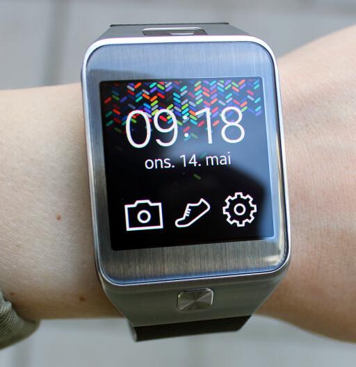 BLANDET DROPS: Blant smartklokkene vi har testet er Samsung Gear 2. Vi opplevde imidlertid flere ting som ikke fungerte med den.  Foto: KIRSTI ØSTVANG