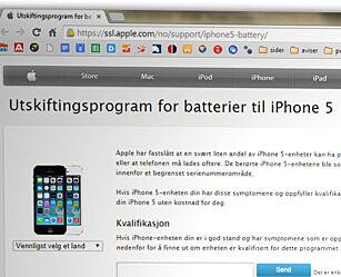 image: Apples batteribytte gir deg dårligere vilkår enn norsk lov