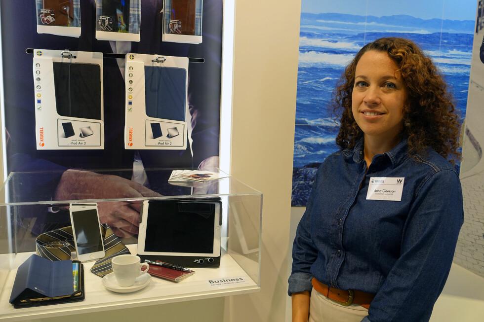 SPENT MARKEDSSJEF: Krusells Anna Claesson kommer til å sitte klistret foran skjermen når Apple lanserer ny iPhone i neste uke. Foto: KIRSTI ØSTVANG