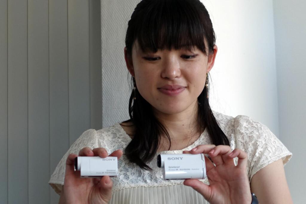 <b>LITE OG HENDIG:</b> Sonys actionkameraer gjør ikke stort ut av seg, og deres nyeste miniutgave er eksepsjonelt liten. Foto: KIRSTI ØSTVANG