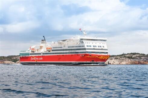 FJORDLINE: Fjordlines MS Oslofjord seiler tur-retur  Sandefjord-Strömstad to ganger per dag. Foto: FJORDLINE