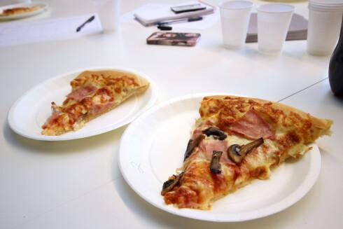 GODT? Det var ingen store høydere blant take away-pizzaene vi har smakt på.  Foto: OLE PETTER BAUGERØD STOKKE