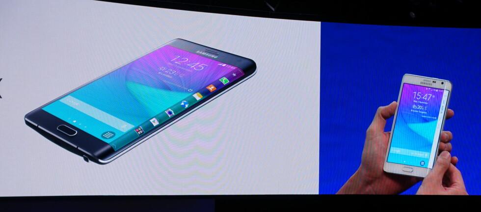 BUET: Samsung Galaxy Note Edge har en original vri på skjermen, bokstavelig talt. Foto: KIRSTI ØSTVANG