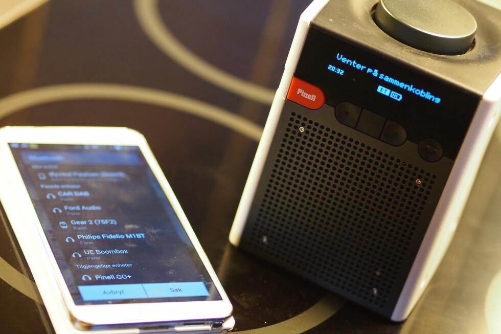 Enkel tilkobling: Bluetooth-oppsettet var enkelt. Foto: ØYVIND PAULSEN