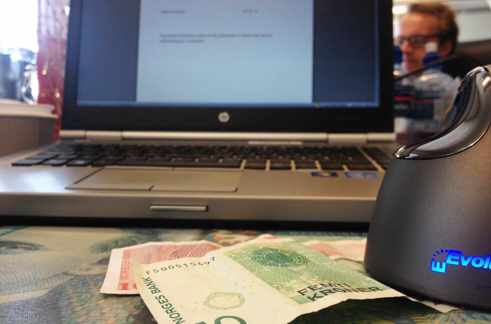 LÅN? Har du behov for et mindre lån, vil det lønne seg å låne penger av arbeidsgiveren din, hvis de tilbyr dette til sine ansatte. Foto: BERIT B. NJARGA