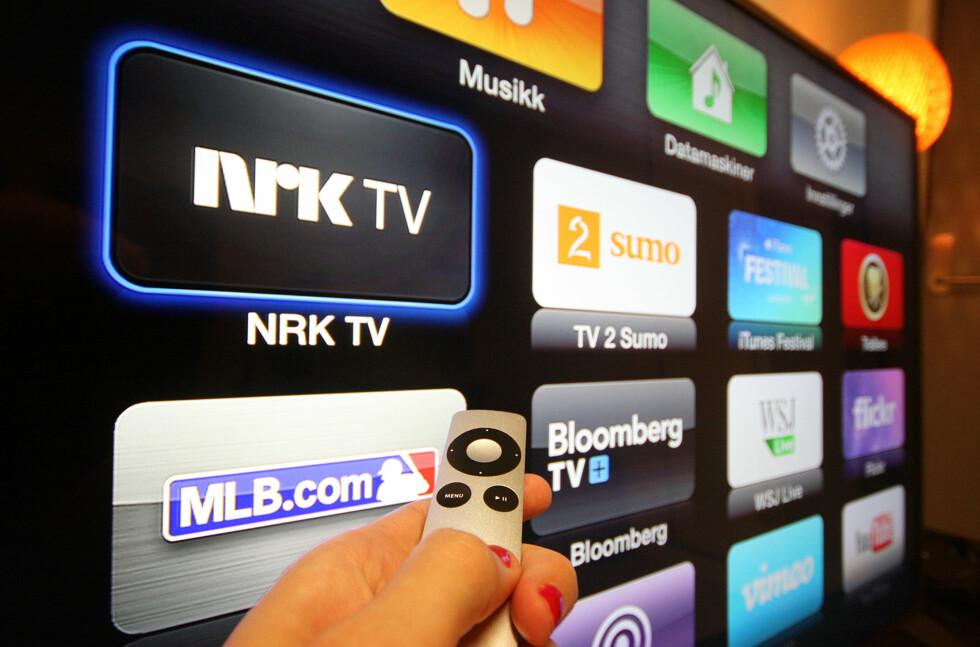 NORSKE KANALER: Nå kan Apple TV-eiere se på både NRK og TV 2 rett fra den lille, svarte boksen. Foto: KIRSTI ØSTVANG