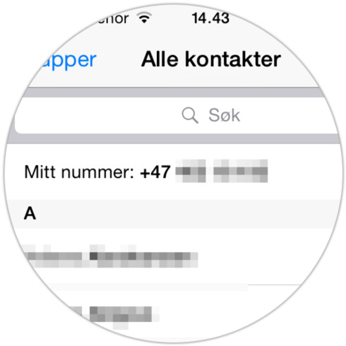GREIT FOR DEN GLEMSKE: Kan du ikke ditt eget telefonnummer, er hjelpen heldigvis ikke langt unna. Foto: KIRSTI ØSTVANG