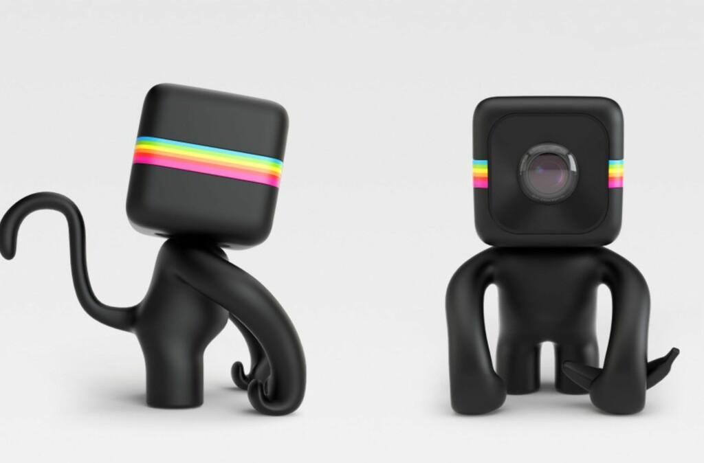 <B>ORIGINALT:</B> Polaroid slipper flere fester til Cube, blant annet et apefeste Foto: POLAROID