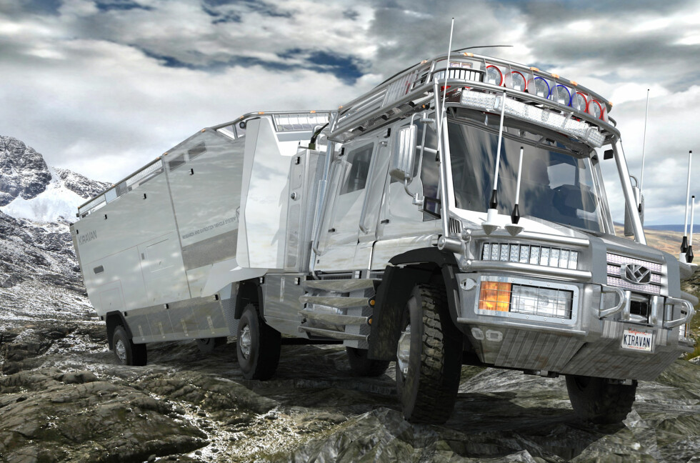 ATV: KiraVan skal takle 45 graders stigninger i landskapet.  Foto: APPLIEDMINDS.COM