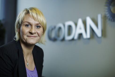 CODAN FORSIKRING: Informasjonssjef Mari Faaberg i Codan Forsikring er klar på deres tolkning av kjørereglene.  Foto: Codan Forsikring