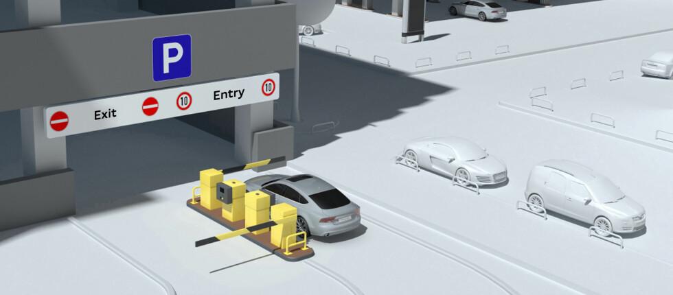PARKERER SELV: Selvparkerende biler er vist før, men ikke i så avansert utgave som dette EU-prosjektet kan vise til.   Foto: Audi