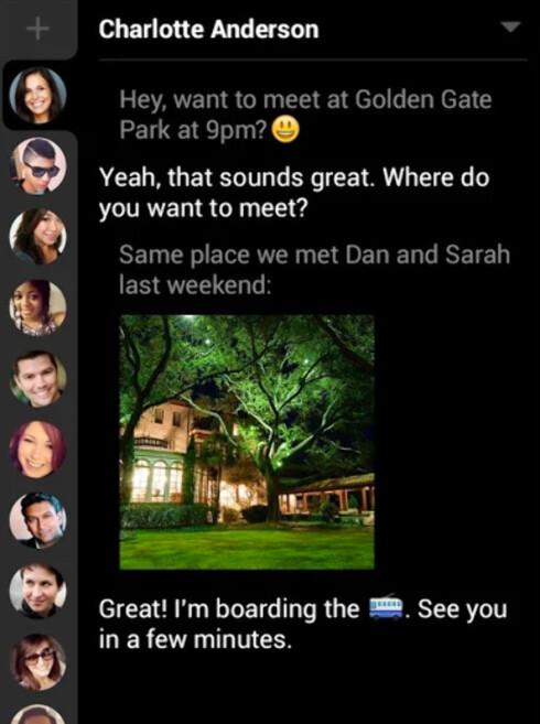 ENKEL: hello sms sorterer samtalene i faner slik at du raskt kan bytte mellom dem.