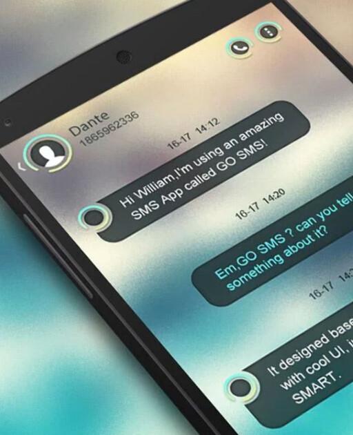 NY LOOK: Go SMS Pro har støtte for hundrevis av temaer. Dette er Circle.