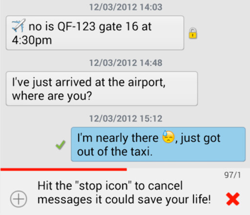 ANGRE: Med ChompSMS får du noen sekunder på å angre når du sender en melding.