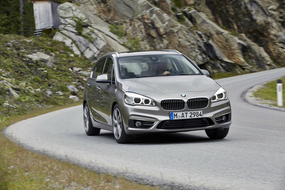 <strong><b>KJØREGLEDE:</strong></b> BMW lover at 2-serie Active Tourer skal være den mest kjøreglade bilen i sin klasse. Foto: BMW