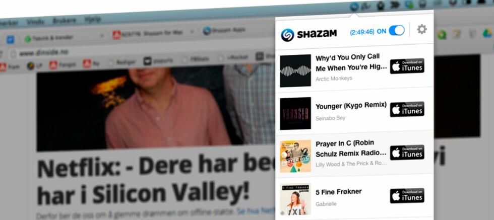 HØRER MUSIKKEN: Med Shazam installert kan du lett se hvilke sanger som spilles på radioen. Foto: PÅL JOAKIM OLSEN
