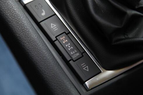 LÅSING: Låst senterdiff er standard i lavserie. Du kan også velge til låsing av bakdiffen. Foto: RUNE M. NESHEIM