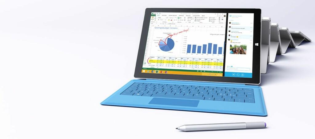 <strong>SVÆRT GOD SKJERM:</strong> Microsofts nye nettbrett scorer svært godt i en dyptgående skjermtest. Foto: MICROSOFT