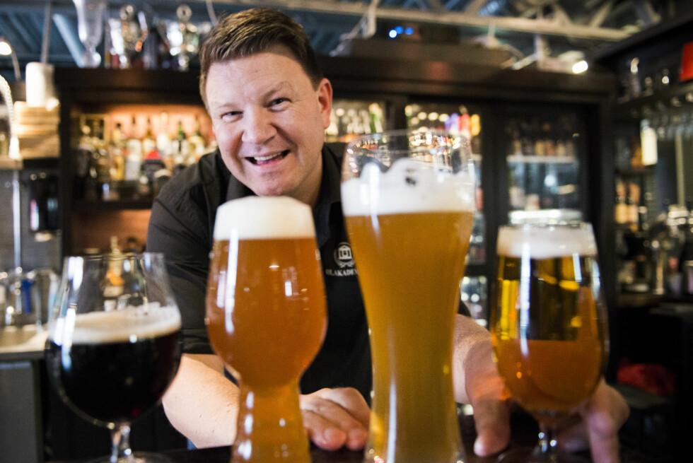 TA TEMPEN: Hvert øl kommer til sin rett ved ulik serveringstemperatur.  Foto: ENDRE VELLENE