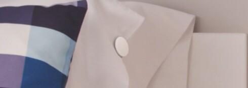 <strong><B>HELLO, OG GOD NATT:</strong></B> Sensorballen kommuniserer den denne lille dingsen man fester til puta.
