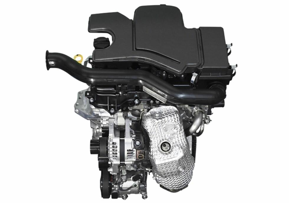 OMARBEIDET: 1,5-literen tjenestegjorde i forrige generasjon Prius, men er blitt endret mye for å få forbruket ytterligere ned. Foto: TOYOTA