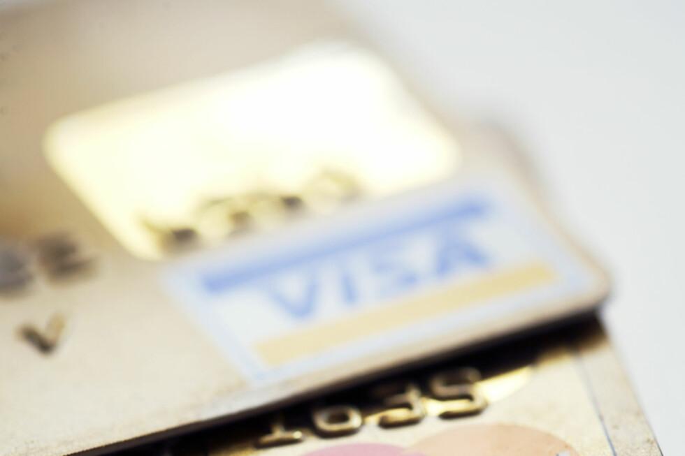 RENTEFRITT: Kredittkortet gir deg et rentefritt lån, såfremt du faktisk betaler tilbake alt du har brukt i løpet av den rentefrie perioden. Hvis ikke kan kredittkortbruken koste flesk. Foto: COLOURBOX