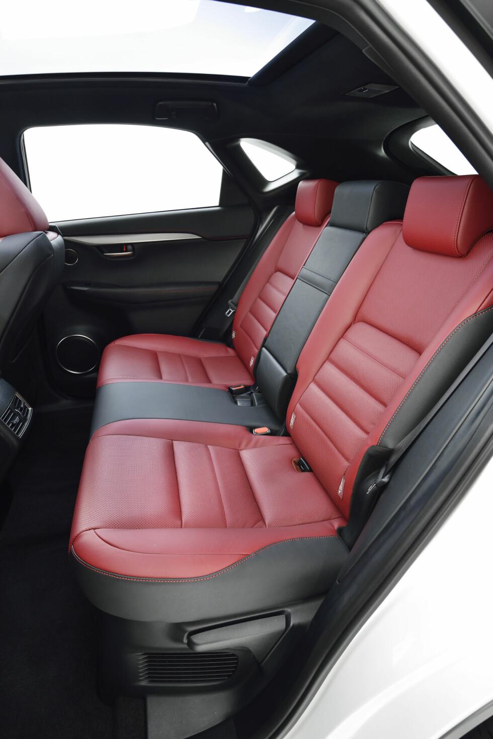 <strong><B>ROMSLIG BAK:</strong></B> Bakseteplassen skal ifølge Lexus være klasseledende. Foto: Lexus