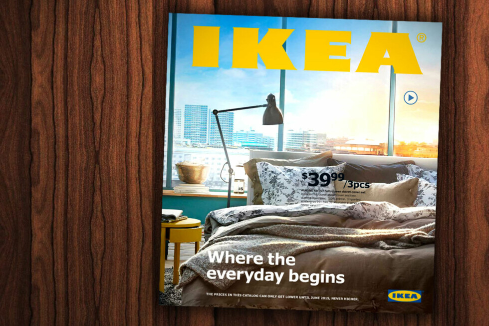 """NY: Slik ser den amerikanske Ikea-katalogen ut. Innholdet vil ikke være helt likt i den norske, men den skal gi en """"god pekepinn"""".  Foto: OLE PETTER BAUGERØD STOKKE/IKEA"""