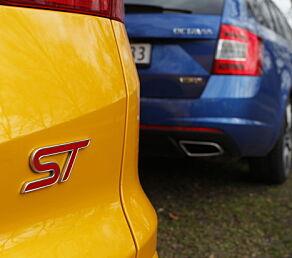 image: Ford Focus ST vs. Skoda Octavia VRS