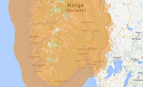 GOD DEKNING: Dekningen i sør-Norge er nå så godt som 100 prosent. I høst blir det 95,5 prosents dekning, befolkningsmessig, over hele landet. Foto: Radio.no
