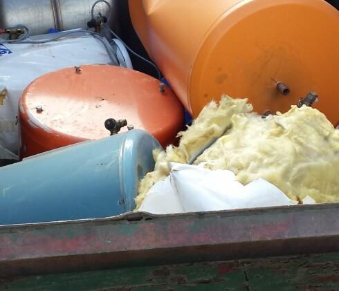 TRINN 1: Finn en varmtvannsbereder i passende størrelse på en gjenvinnings-stasjon. Foto: Privat