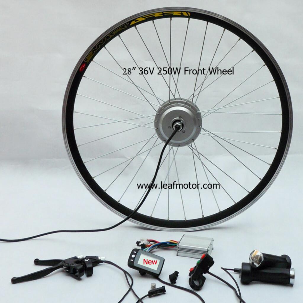 FORAN: Et ferdig sett med alt du trenger til forhjulsdrift. Foto: Leafmotor.com