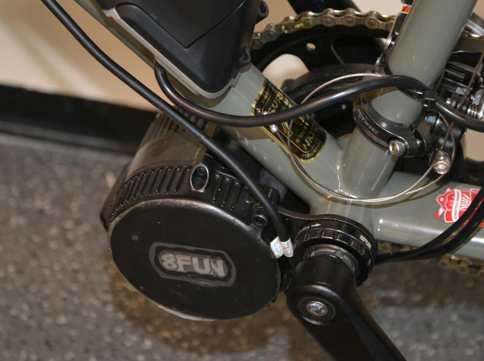 Motoren er ikke stor, men gir bra med krefter, særlig når girsystemet kan utnyttes. Foto: BRYNJULF BLIX