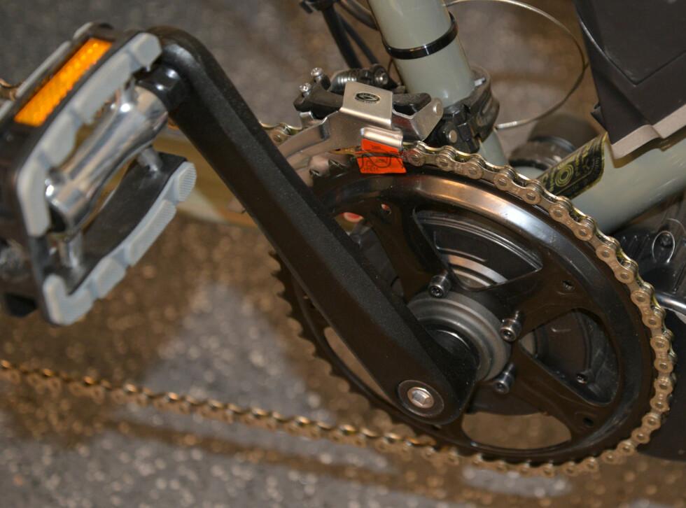 Midtmotor erstatter den gamle kranken og pedalarmene. Foto: BRYNJULF BLIX