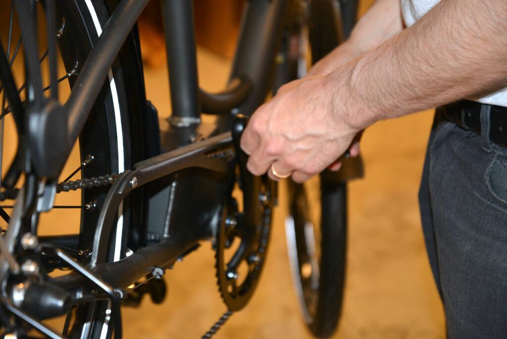 En vanlig sykkel kan utstyres med el-motor. Det er mange mulige løsninger Foto: BRYNJULF BLIX