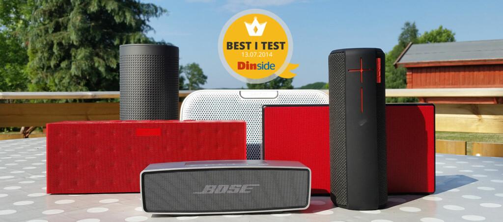 <strong>LYD I VESKA:</strong> Vi har testet 6 Bluetooth-høyttalere som kan tas med på tur. Foto: PÅL JOAKIM OLSEN