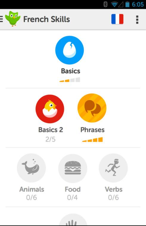LÆR SPRÅKET: Duolingo er en morsom måte å lære et nytt språk på.