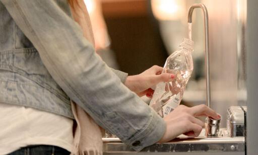 image: Ikke kast vannflaska før sikkerhetskontrollen