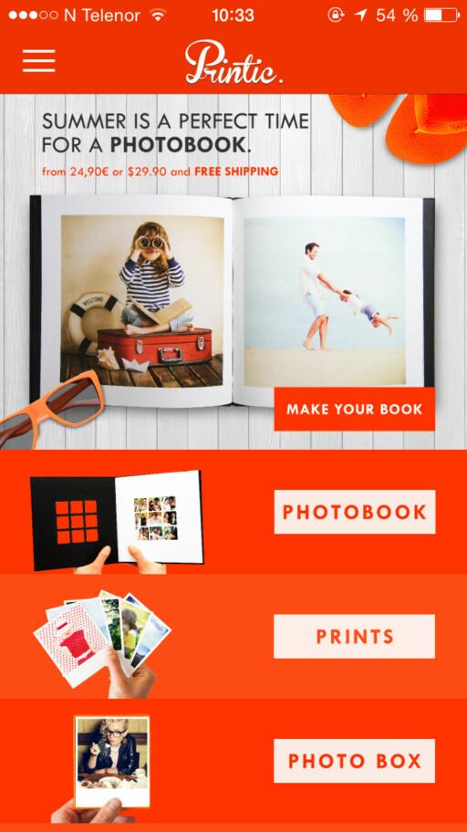 VELG UTSKRIFTSTYPE: Du kan få både vanlige utskrifter, fotobøker og kalendere hos Printic. Foto: KIRSTI ØSTVANG