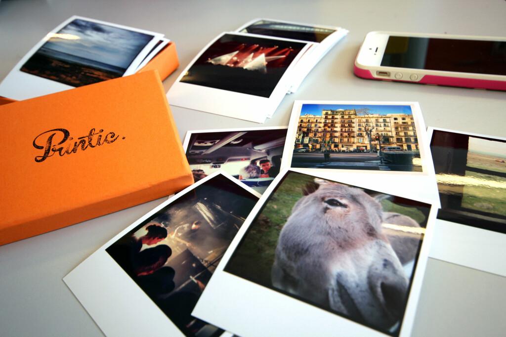 <b>MOBILPOLAROIDER:</b> Med en app som Printic kan du enkelt bestille fysiske kopier av mobilbildene dine. Passer fint i en fotobok eller på kjøleskapsdøra. Foto: KIRSTI ØSTVANG