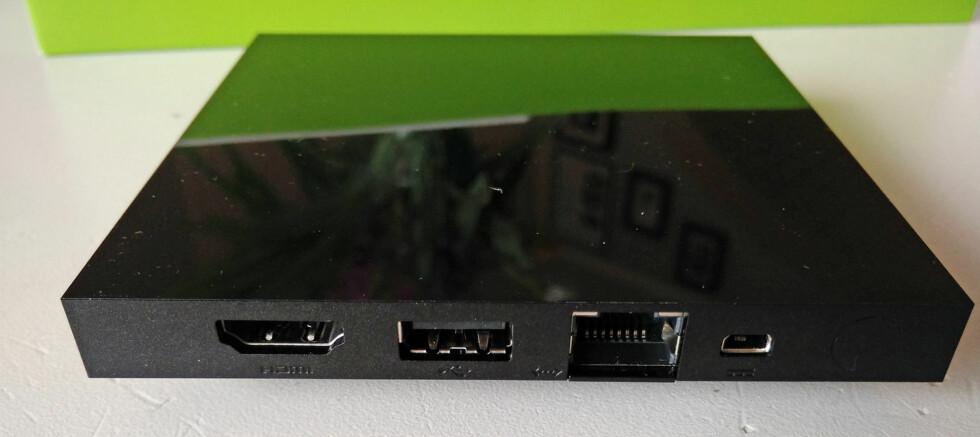 MED OG UTEN TRÅD: Den første Android TV-boksen kan brukes både med kablet nettverk og over wifi.